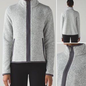 NWOT Lululemon Grey Fleece Zip Up Jacket MSRP $128